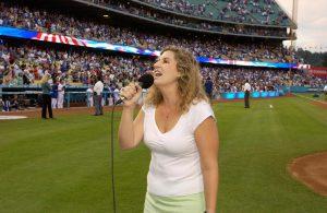 Bree Noble Dodger Stadium National Anthem