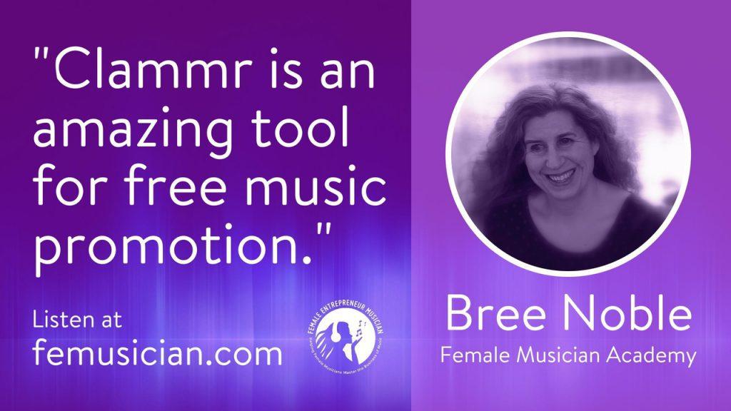 FEM21 Free Music Promo Using The Clammr App - Female Entrepreneur