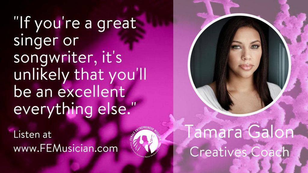 creatives coach tamara galon how to make money as a musician