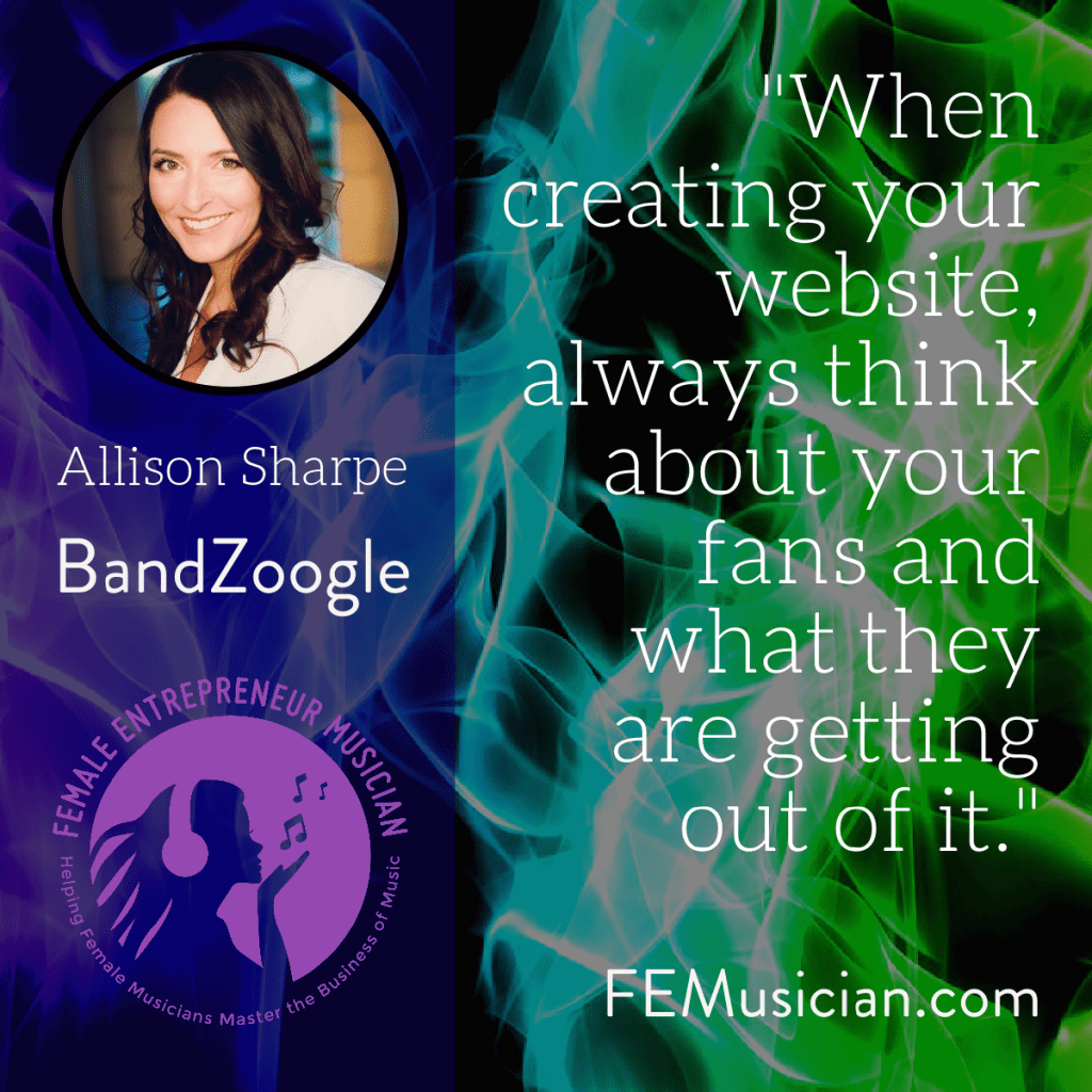 when creating your musician website always think about your fans and what they are getting out of it