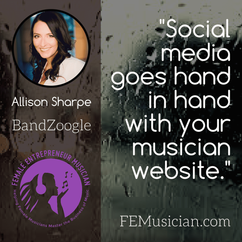 social media goes hand in hand with your musician website