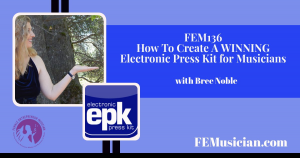 electronic press kit for musicians